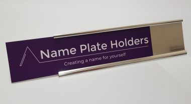 Anodised name plate holder