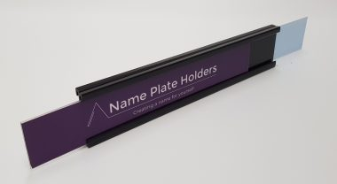 Slide in name holder
