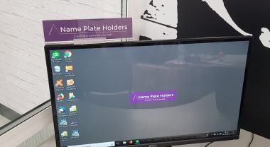 Name holder for monitors
