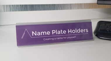 aluminium name plate holder