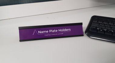 PVC name plate holder