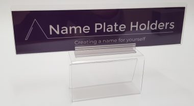 Cubicle partition name plate holder