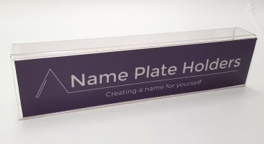 Partition name plate holder