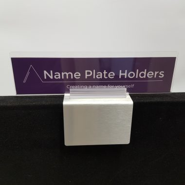 Acrylic/aluminium name holder