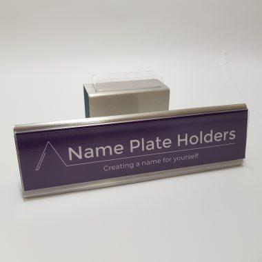 Raised name tag holder